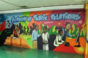 Graffiti on school wall